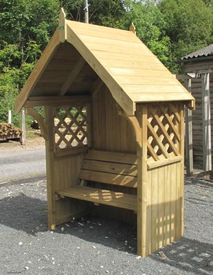 Door from wood: Arbour seat plans
